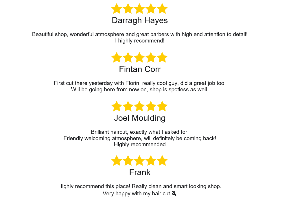 Barbers Dublin Reviews